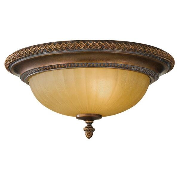 Kelham Hall Firenze Gold 2-light Flush Mount Fixture