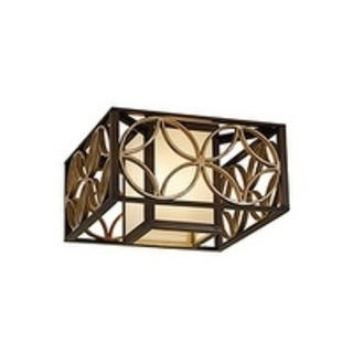 Remy Heritage Bronze 2-light Flush Mount Fixture