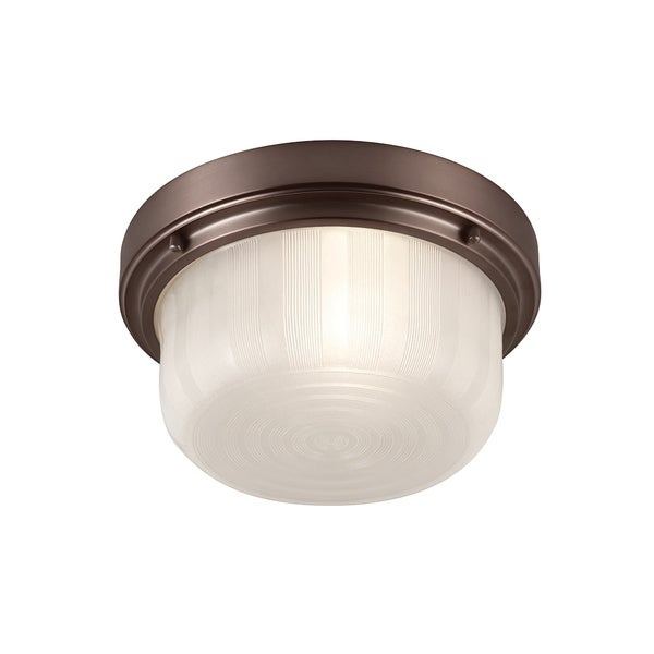 Elliot Chocolate 1-light Flush Mount Fixture