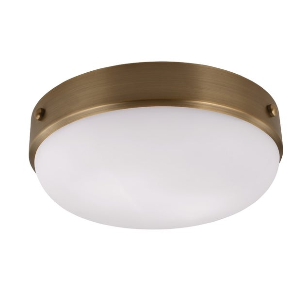 Cadence Dark Antique Brass 2-light Flush Mount Fixture