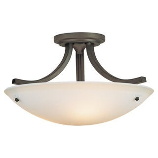 Gravity Semi Oil Rubbed Bronze 3-light Semi Flush Fixture