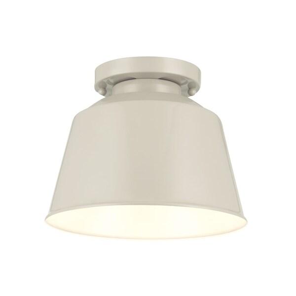 Freemont Semi Hi Gloss Grey 1-light Semi Flush Fixture