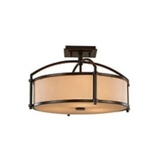 Preston Semi Heritage Bronze 3-light Semi Flush Fixture