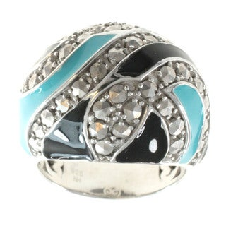 Dallas Prince Marcasite and Enamel Ring