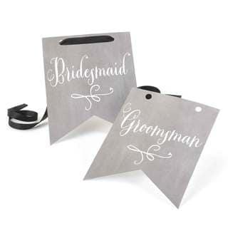 Charming Vintage Bridesmaid and Groomsman Signs