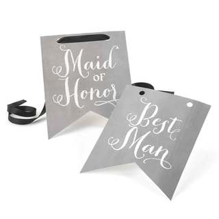 Charming Vintage Maid of Honor and Best Man Signs