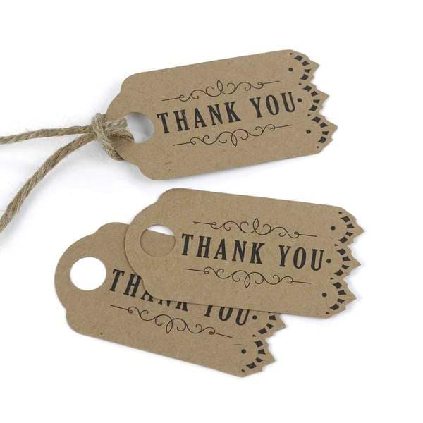 Vintage Kraft Favor Tags (Pack of 25)