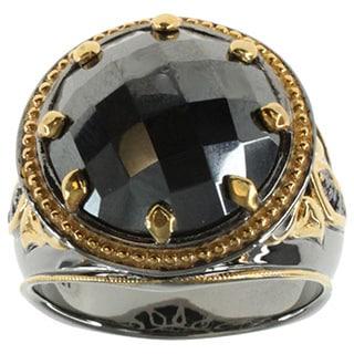 Michael Valitutti Sterling Silver Hematite Ring