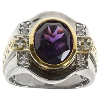 Michael Valitutti Sterling Silver Amethyst Ring