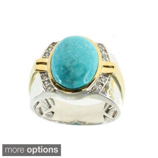 Michael Valitutti Turquoise or Mexican Opal Ring