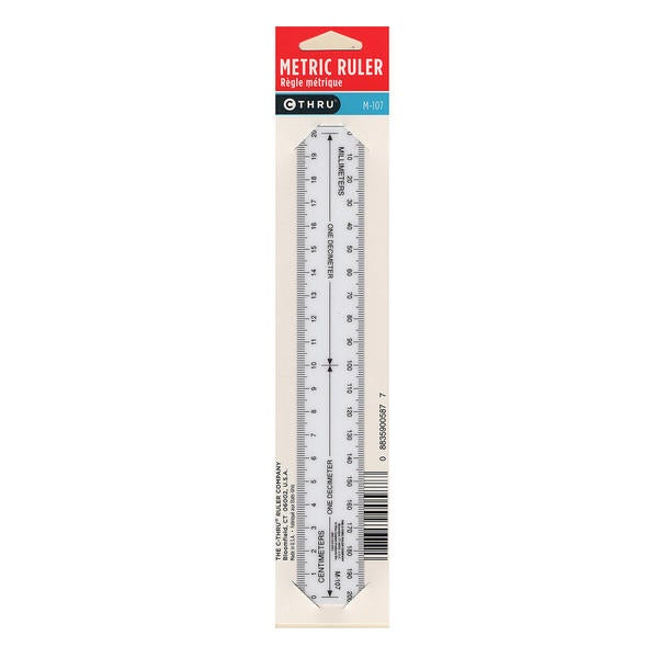 Westcott Metric Opaque Ruler