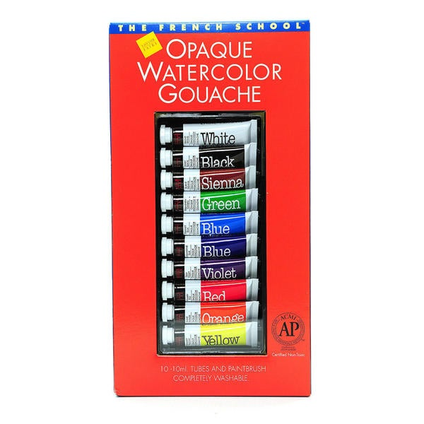 Savoir-Faire The French School Opaque Watercolor Gouache Tube Sets