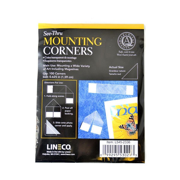 Lineco See-Thru Mounting Corners (Pack of 3)