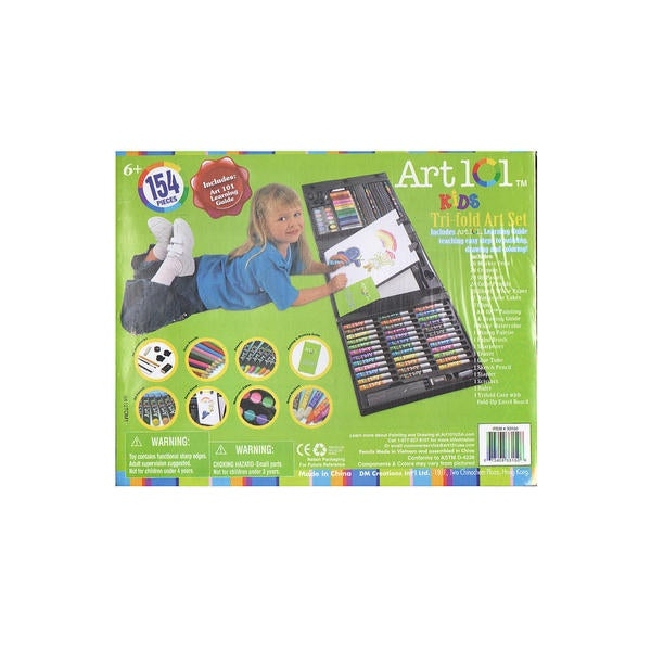 Art 101 Kid's Tri-Fold 154-Piece Art Set