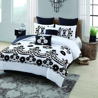 Sierra Flocked 8-piece Comforter Set