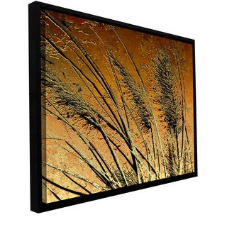 ArtWall Dean Uhlinger 'March Grass' Floater Framed Gallery-wrapped Canvas