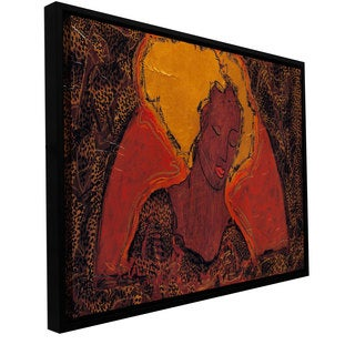 ArtWall Gloria Rothrock 'Leopard Sister' Floater Framed Gallery-wrapped Canvas