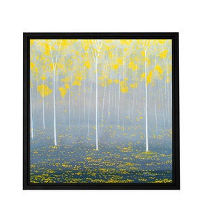 ArtWall Herb Dickinson 'Verda Forest 2' Floater Framed Gallery-wrapped Canvas