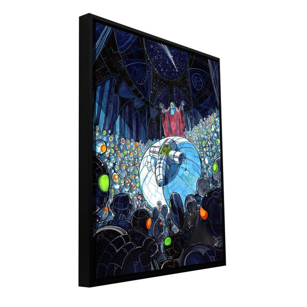 ArtWall Luis Peres 'Cradle' Floater Framed Gallery-wrapped Canvas