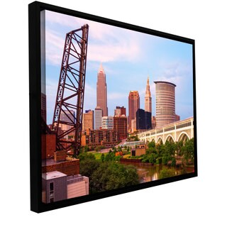 ArtWall Cody York 'Cleveland 10' Floater Framed Gallery-wrapped Canvas