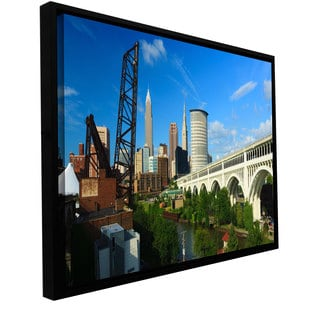 ArtWall Cody York 'Cleveland 11' Floater Framed Gallery-wrapped Canvas