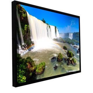 Cody York 'Iguassu Falls 3' Floater Framed Gallery-wrapped Canvas Art