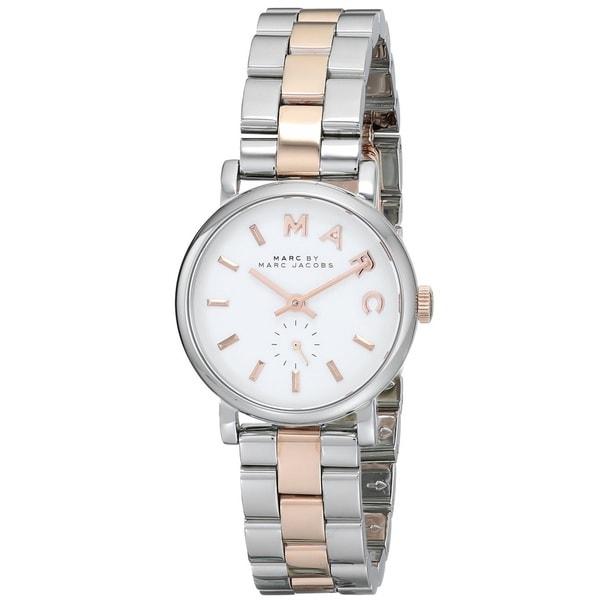 Marc Jacobs Women's MBM3331 Baker Round Two tone Bracelet Watch