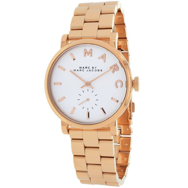 Marc Jacobs Women's MBM3248 Baker Mini Round Rose Gold Bracelet Watch