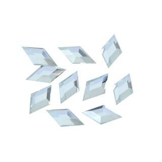 Zodaca 4 x 8mm Rhombus Classy Nail Art Idea Design DIY 3D Crystal Stickers (Pack of 10)