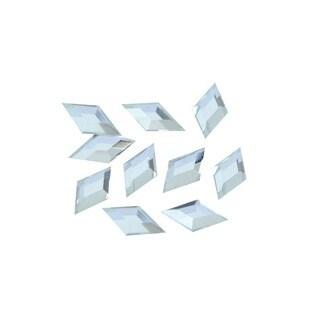Zodaca 3 x 6mm Rhombus Classy Nail Art Idea Design DIY 3D Crystal Stickers (Pack of 10)