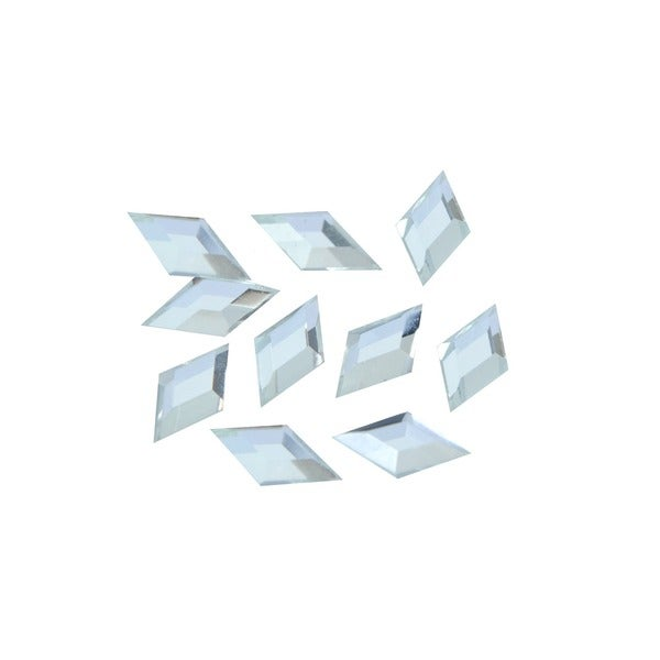 Zodaca 3 x 6mm Rhombus Classy Nail Art Idea Design DIY 3D Crystal Stickers (Pack of 10)