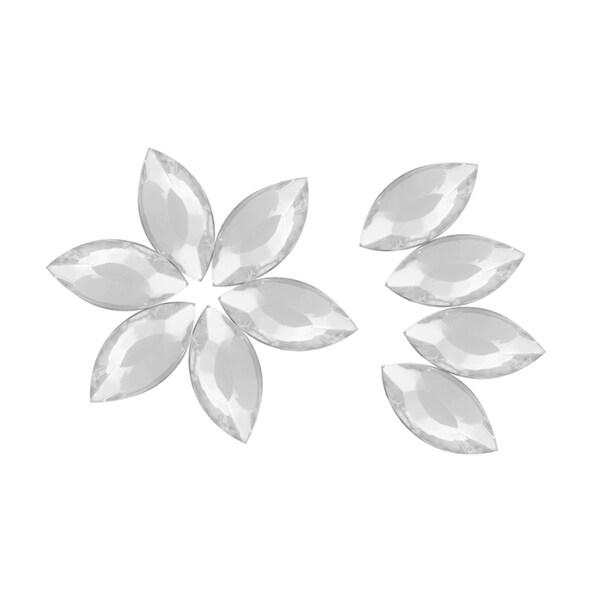 Zodaca 5 x 10mm Almond Classy Nail Art Idea Design DIY 3D Crystal Stickers (Pack of 10)