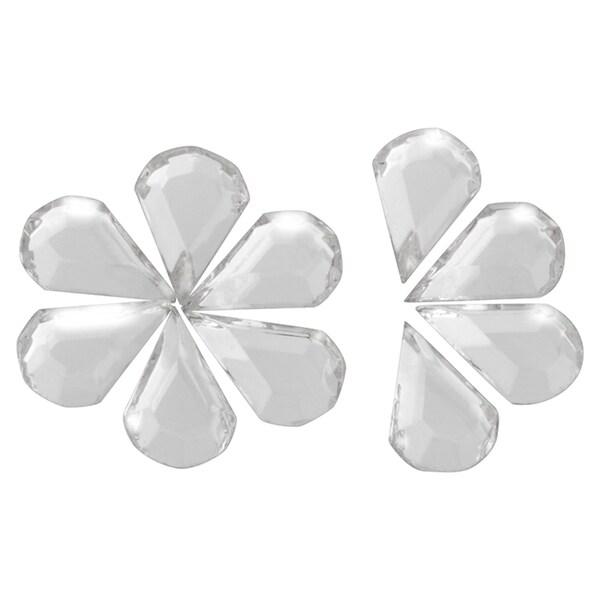 Zodaca 5 x 7mm Water Drop Classy Nail Art Idea Design DIY 3D Crystal Stickers (Pack of 10)