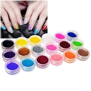 Zodaca 18-Color Classy Nail Art Idea Design DIY Glitter Powder Set
