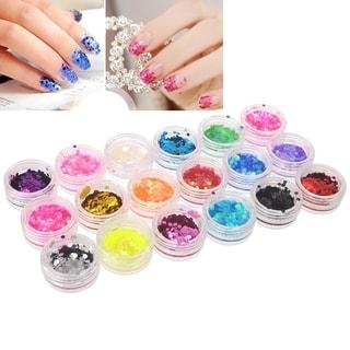 Zodaca 18-Color Classy Nail Art Idea Design DIY Hexagon Glitter Set