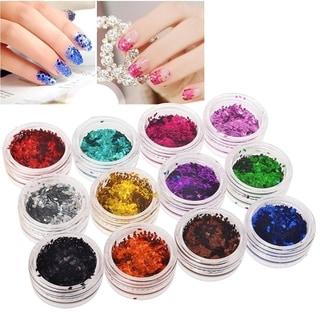 Zodaca 18-Color Classy Nail Art Idea Design DIY Rhombus Glitter Set