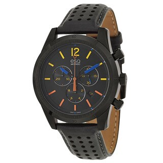 ESQ by Movado Men's 07301476 'Current' Stainless Steel Black Ion-plated Swiss Quartz Watch