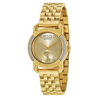 ESQ Movado Women's 07101465 'Classica' Stainless Steel Yellow Gold Ion-plated Swiss Quartz Watch