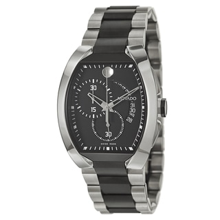 Movado Men's 0606699 'Verto' Stainless Steel and Black PVD Coated Swiss Quartz Watch