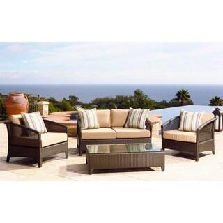 Abbyson Living Monterey 4-piece Outdoor Deep Seating Set