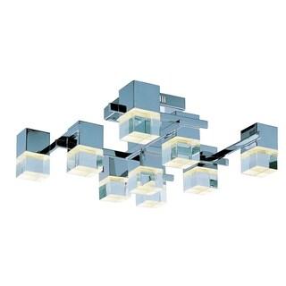 Nova LED Chrome 9-light Flush Mount