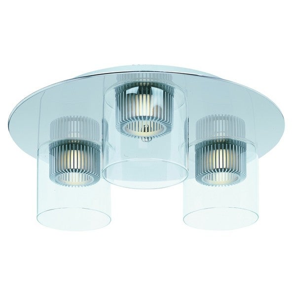 Cyborg Chrome 3-light Ceiling Mount
