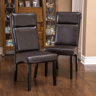 Christopher Knight Home Clancy Bonded Leather Dining Chairs (Set of 2)