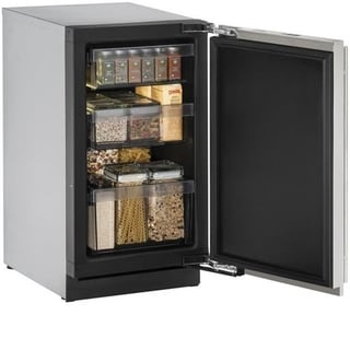 U-Line 3000 Series 3018 18-inch Stainless Steel Solid Door Refrigerator