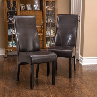 Christopher Knight Home Osborne Bonded Leather Dining Chairs (Set of 2)
