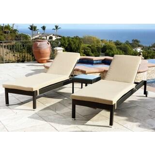 Abbyson Living Monterey 3-piece Outdoor Chaise Lounger Set
