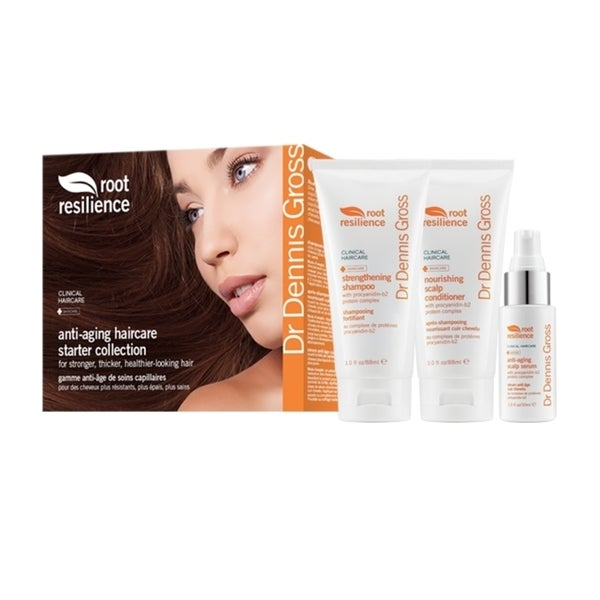 Dr. Dennis Gross Root Resilience Anti-Aging Haircare Starter Collection 3-piece Gift Set