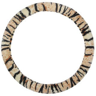 BDK Original Animal Print Tiger Steering Wheel Cover 15-inch Universal Fit /