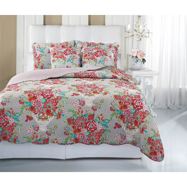 Blissful Bouquet 3-piece Quilt Set