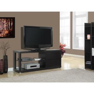 Cappuccino Hollow-core 60-inch Tempered Glass TV Console